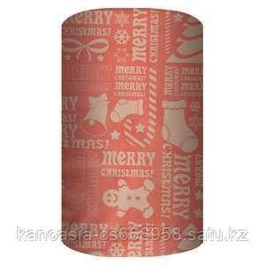 Non-branded Упаковочная крафт бумага, Merry Christmas & Gifts, 70*150 см.