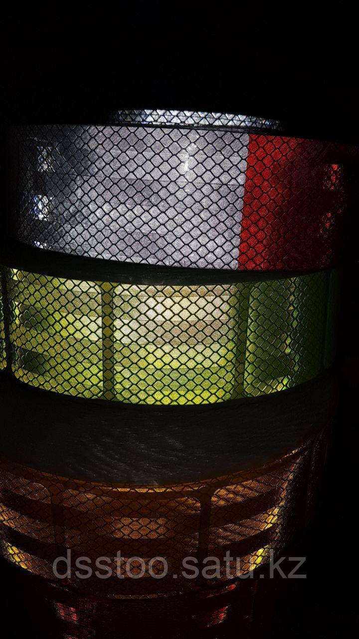 Светоотражающая лента сегментированная для ограждения опасностей - фото 2