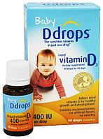 Ddrops, Для детей, жидкий витамин D3, 400 МЕ, 90 капель