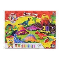 "Danco Toys Набор креативного творчества ""Тесто для лепки MASTER DO"" ""Динозавры"", 12 цветов."