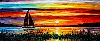 Картина по номерам красками триптих 3*50*40см