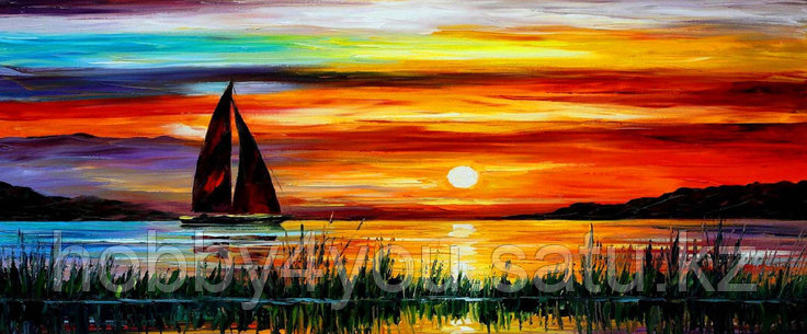 Картина по номерам красками триптих 3*50*40см, фото 2