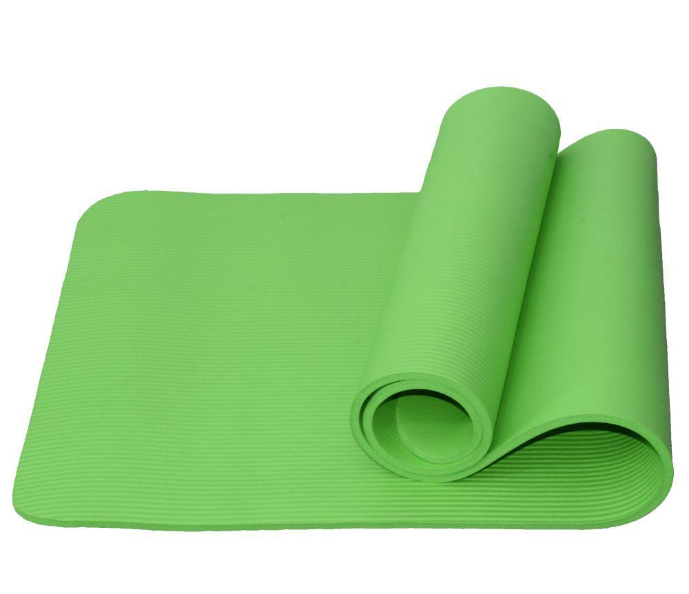 Коврик для йоги и фитнеса Atemi, AYM05GN, NBR, 183x61x1,0 см, зелёный