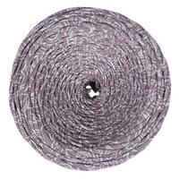 Пряжа трикотажная широкая 100м/320±15гр, ширина нити 7-9 мм (цветы латте принт)