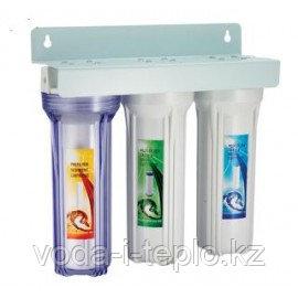 Фильтр трёхступенчатый для очистки воды