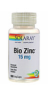 Цинк Bio zinc (пиколинат, цитрат, хелат) 15 мг 100 капсул.