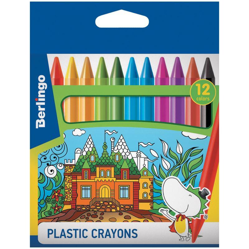 """Мелки пластиковые Berlingo """"Волшебный дворец"""", 12цв., шестигранные, картон, европодвес"""