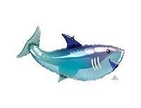 Фольгированные фигуры, Акула, 35 дюйм