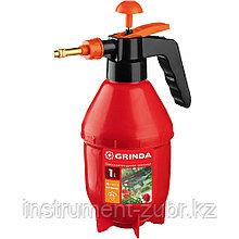 Опрыскиватель 1 литр, GRINDA PS-1E с удлинённым соплом, ручной, помповый, колба из полиэтилена