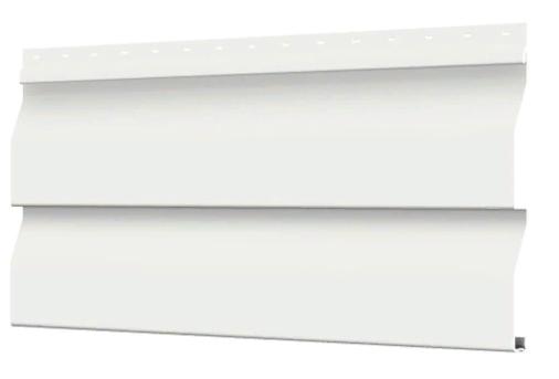 Металлосайдинг 226 мм RAL 9003 глянец Корабельный брус Цена 550 тенге при заказе свыше 50 п.м