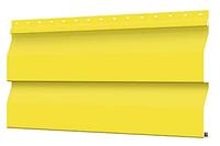 Металлосайдинг 226 мм RAL 1018 глянец Корабельный брус Цена 1095 тенге при заказе свыше 50 п.м