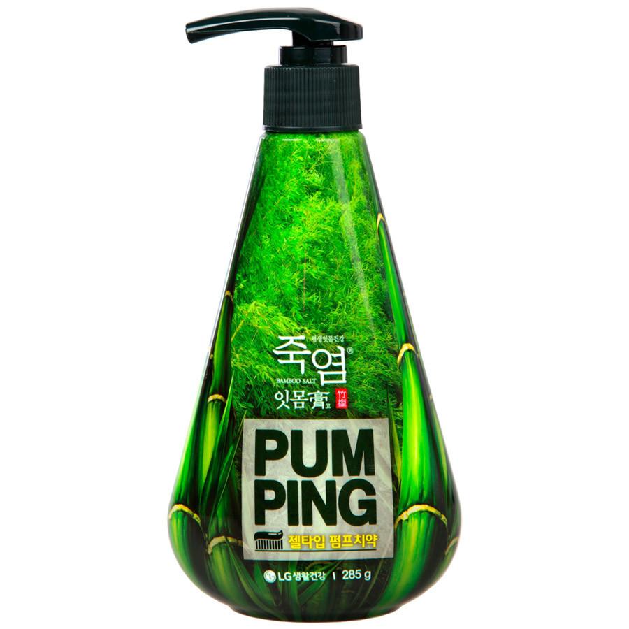 LG Pumping Зубная паста с бамбуковой солью Bamboosalt Gumcare / 285 мл.