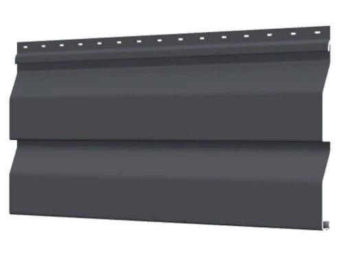 Металлосайдинг 226 мм RAL 7024 глянец Корабельный брус  Цена 1040 тенге при заказе свыше 50 п.м