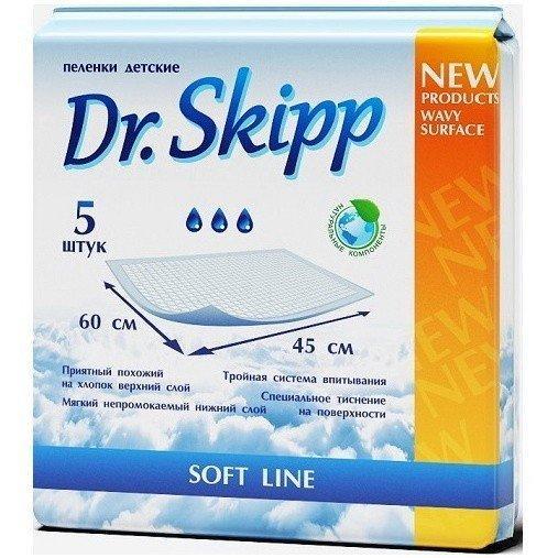 Детские гигиенические пеленки Dr. Skipp р-р 60х45 №5