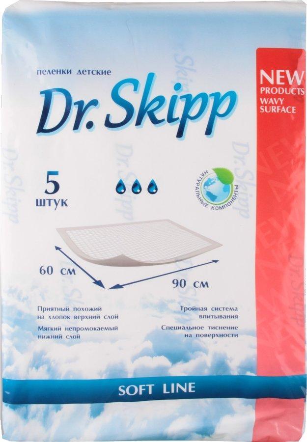 Детские гигиенические пеленки Dr. Skipp р-р 60х90 №5