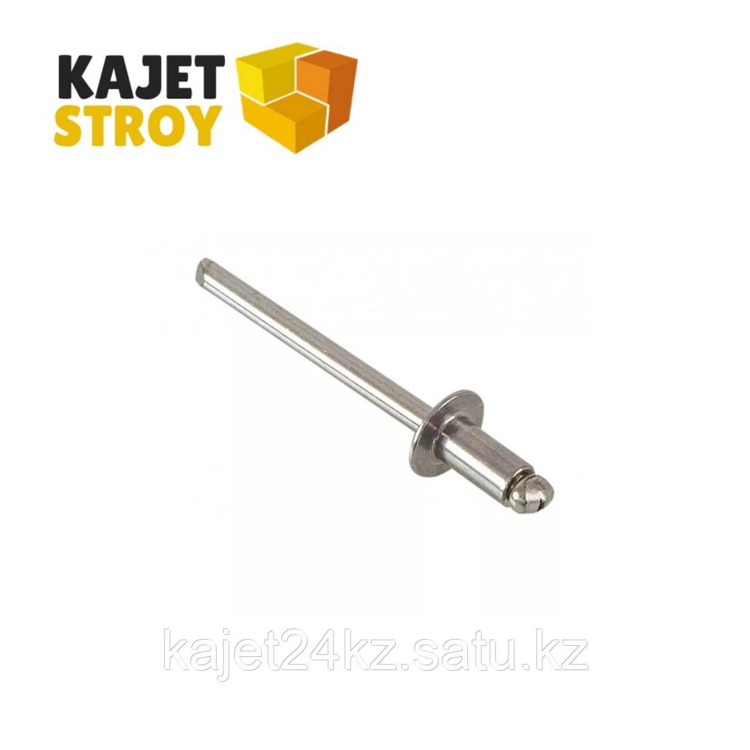 Заклепка вытяжная DIN 7337, нержавеющая сталь А2, 4,8х12