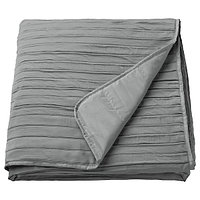 Покрывало ВЕКЕТОГ серый 180x250 см ИКЕА, IKEA, фото 1