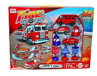 Автотрек Пожарный, 24 детали