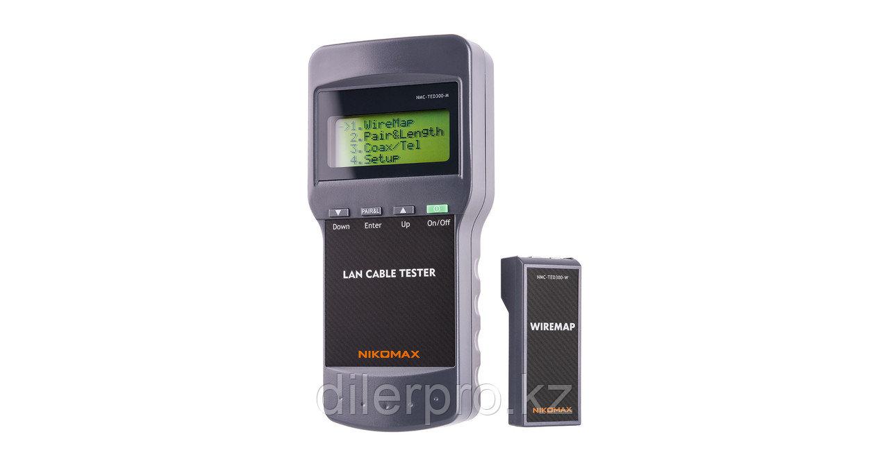 Кабельный тестер NMC-TED300 с LCD дисплеем и функцией измерения длины