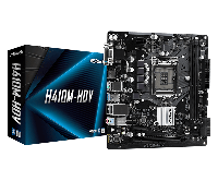 Материнская плата ASRock H410M-HDV LGA1200 2xDDR4 4xSATA D-Sub HDMI DVI mATX