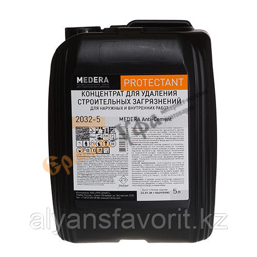 MEDERA Anti-Cement- удалитель цемента- концентрат. 5 литров.РФ