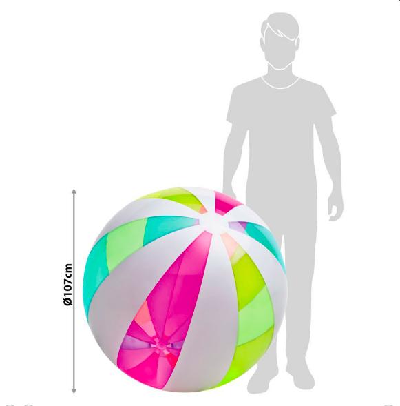 Надувной мяч Giant Beach Ball 107см Intex 59066 - фото 2