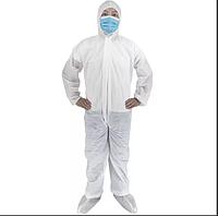Одноразовый защитный комбинезон спанбонд, плотность 50 г/м