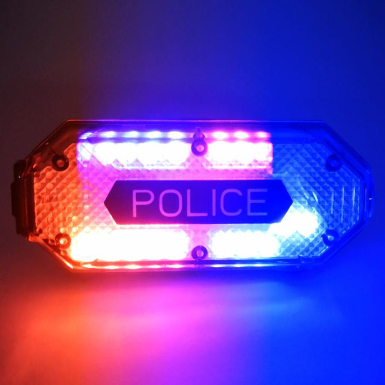 Носимый проблесковый полицейский маячок с встроенным фонариком и креплением на одежду