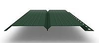 Софит L брус 240 мм RAL 6005 металлический (перфорированный)