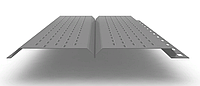 Софит L брус 240 мм RAL 7004 металлический (перфорированный)
