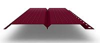 Софит L брус 240 мм RAL 3005 металлический (перфорированный)