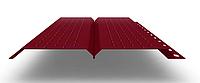 Софит L брус 240 мм RAL 3011 металлический (перфорированный)
