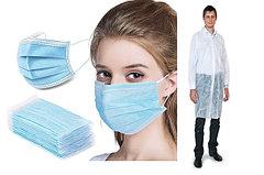Одноразовые маски и халаты