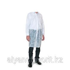 Халат процедурный, белый, рукава на резинке, размер XL