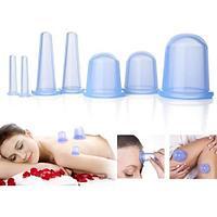 Набор вакуумных банок для массажа лица и тела(8 штук)