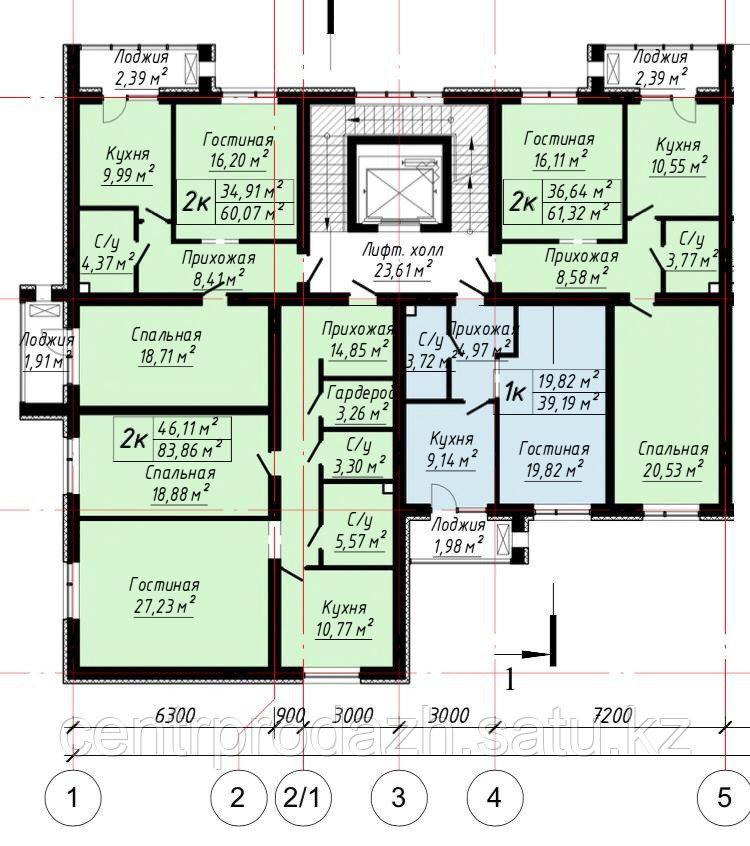 1 ком в ЖК «The House». 39.19 м²