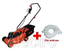 """51024А - """"P.I.T."""" Электрическая газонокосилка 1800 w. Ø 320 mm + подарок (15м кабель)"""