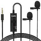 Петличный двойной микрофон Candc DC-C2 (Black)