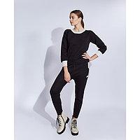 Костюм женский трикотажный MINAKU Jenna (свитшот, брюки), размер 46-48, цвет чёрный