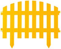 """Забор декоративный GRINDA """"АР ДЕКО"""", 28x300см, желтый"""