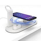 Беспроводная зарядка 4 в 1 AirPower Fast Charge с технологией QI для iPhone, Apple Watch, AirPods (White)