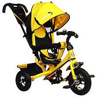 """Велосипед трёхколёсный Micio Classic Air, надувные колёса 10""""/8"""", цвет жёлтый"""