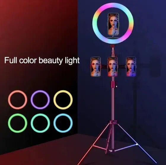 Кольцевая светодиодная лампа со штативом LED MJ20 (20 см)