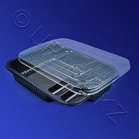 Россия Контейнер для суши 4-секц PS/PVC 21,0х15,2х4,0см с крышкой 500 шт/кор