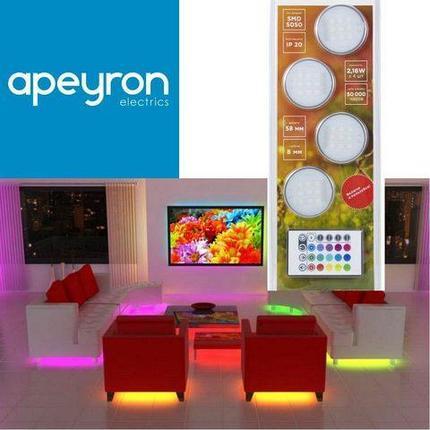 Комплект для организации декоративной LED подсветки APEYRON с пультом ДУ, фото 2