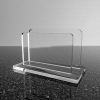 Подставка для визиток модель 9050, оргстекло 2мм, прозрачный (комплект из 3 шт.)