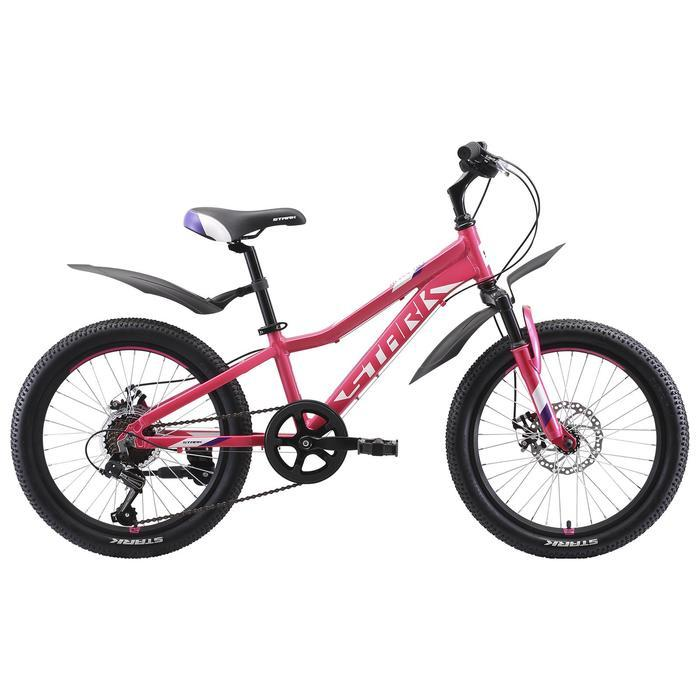 """Велосипед 20"""" Stark Bliss 1 D, 2020, цвет розовый/фиолетовый/белый"""