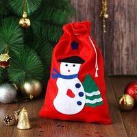 Карнавальный мешок 'Снеговик', с ёлочкой