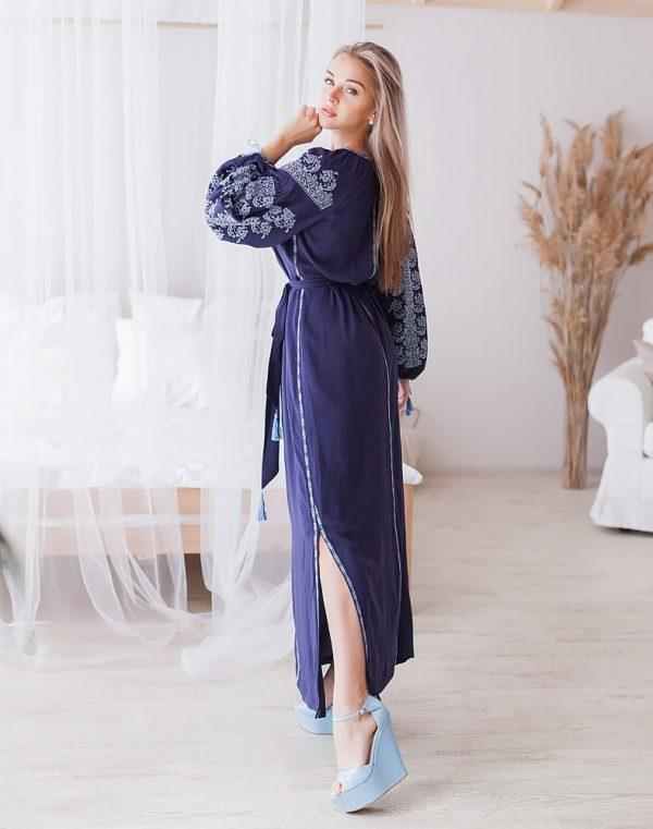 Платье Лілея поплин синий - фото 2