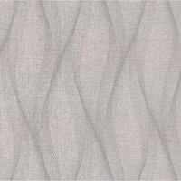 Обои горячее тиснение на флизелине IDECO 3004 UV Волна темно-серая, 1,06х10 м